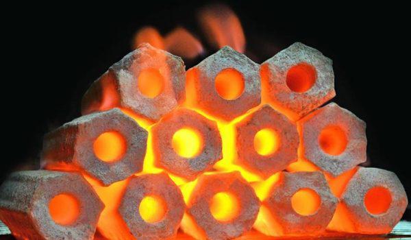 زغال فشرده و چینی
